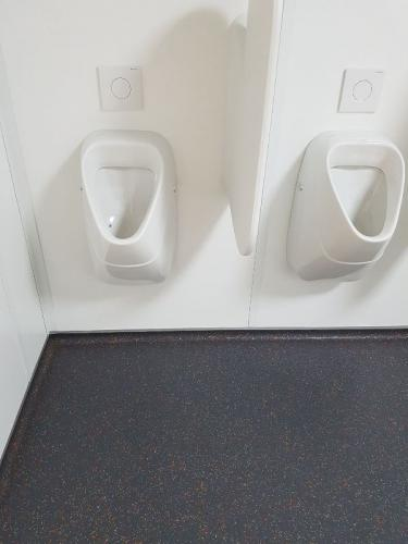 PU gietvloer voor in een toiletruimte