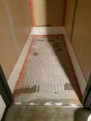 Voor situatie doucheruimte